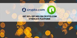 Get 50% off NEO tokens on Crypto.com syndicate platform