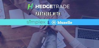 HedgeTrade partners with Bluzelle and Simplex