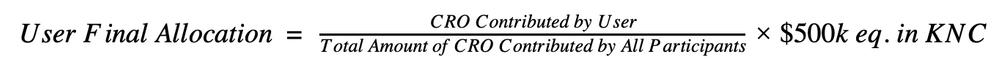KNC allocation Formular