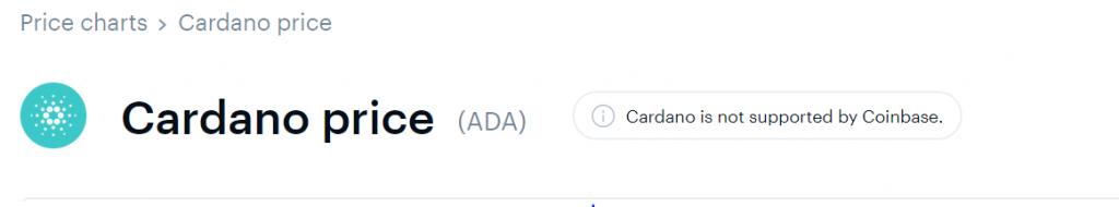 ADA Coinbase listing