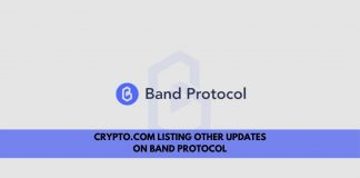 Crypto.com Listing other updates on Band protocol