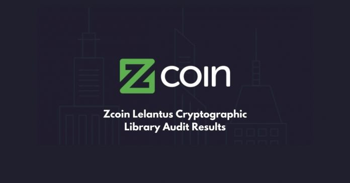 Zcoin Lelantus Cryptographic Library Audit Results