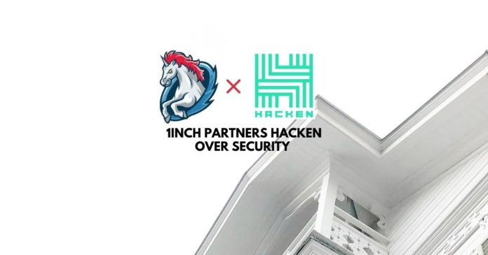 1inch Partners Hacken Over Security