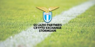 SS Lazio Partners Crypto Exchange StormGain