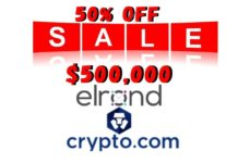 Crypto.com to List Elrond (EGLD) at 50% off