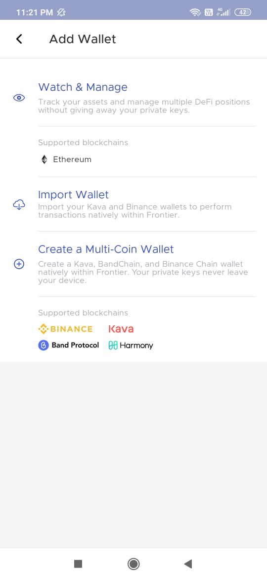 Creating a multi-coin wallet.