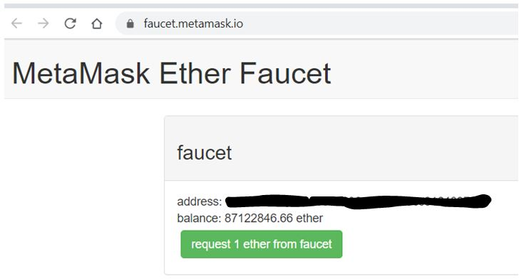 Requesting ether.