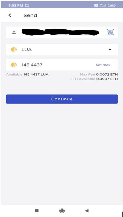 Sending tokens
