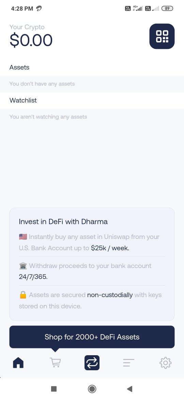 Dharma smart wallet