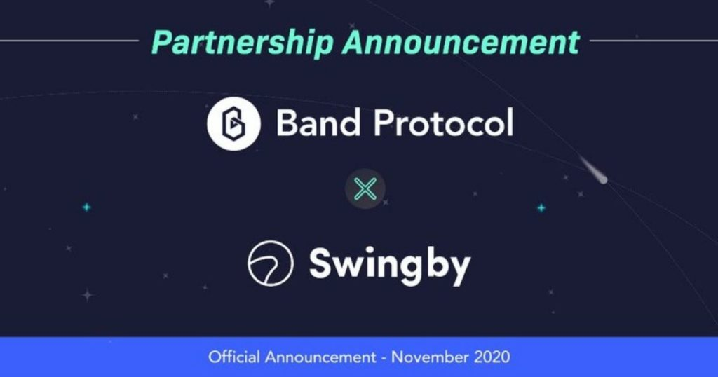 Swingby has partnered with Band Protocol.