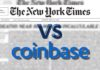 NEW YORK TIMES IS BEARISH ON COINBASE