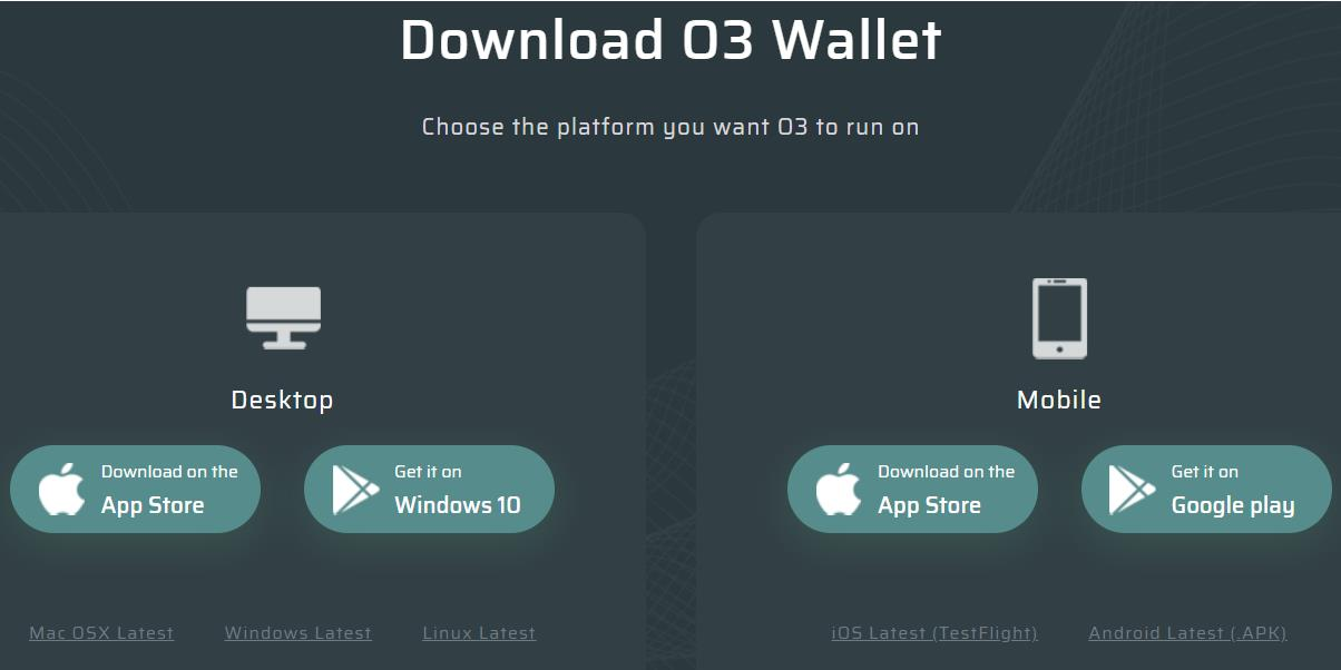 O3 Wallet.
