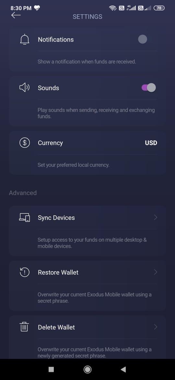 Exodus Wallet