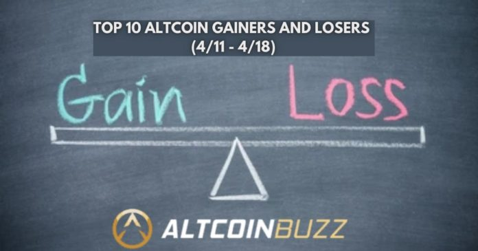 Top 10 Altcoin Gainers and Losers (4/11 - 4/18)