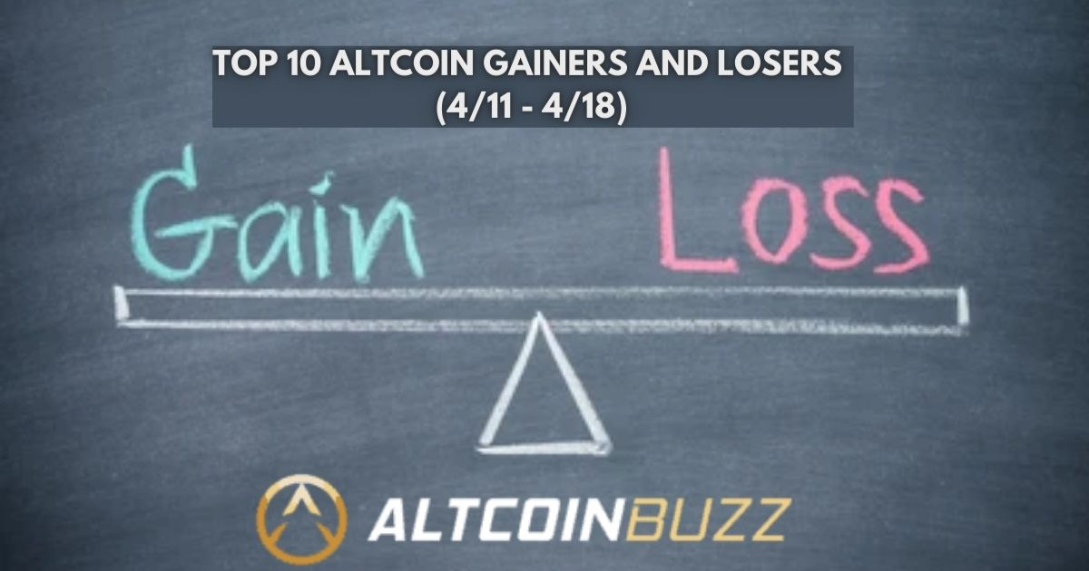 Top 10 Altcoin Gainers and Losers (4/11 - 4/18) - Altcoin Buzz