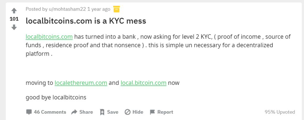 LocalBitcoin KYC