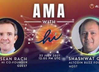 hi AMA – Session with Co-Founder, Sean Rach