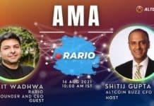 Rario AMA – Session With Ankit Wadhwa, Founder & CEO