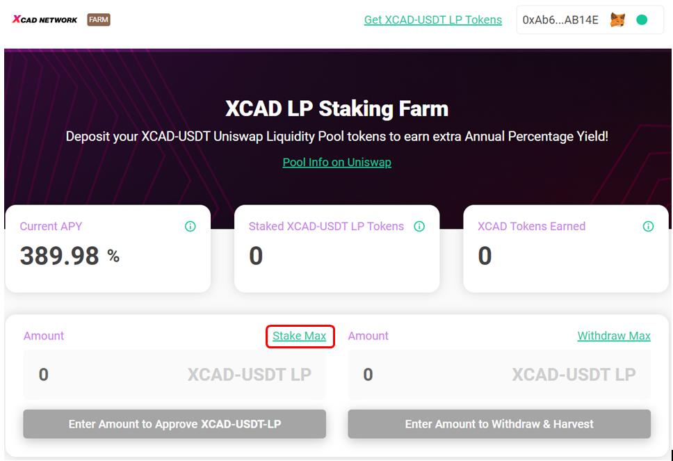 Staking LP tokens