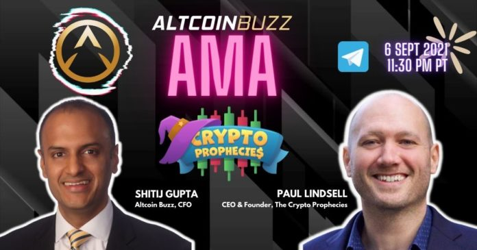 The Crypto Prophecies AMA With Co-Founder and CEO Paul Lindsell