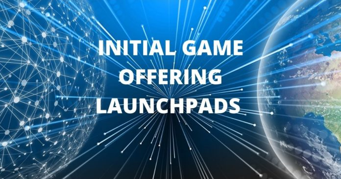Initial game offering launchpads