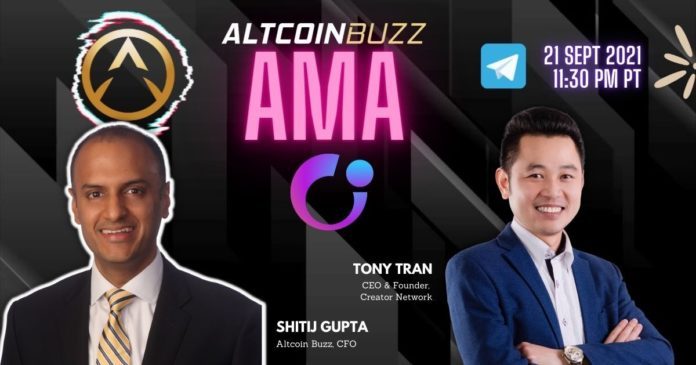 Creator Network AMA With CEO and Founder Tony Tran