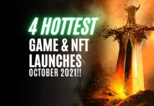 Game and NFT launches october 2021